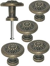FUXXER®- 4x antieke meubelgrepen, ladeknoppen, landhuis vintage design brons ijzer messing meubel kast kast keuken buffet,...
