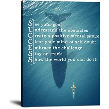 Amazon Com Inspirational Entrepreneur Quotes Wall Art Success Motivational Quotes Painting Prints On Canvas Modern Inspiring Motto Pictures Posters Prints Artwork Home Decor For Living Room Office 30 Wx40 H Wall Art