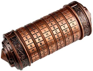 ArtRest Da Vinci Code Mini Cryptex Valentine's Day Interesting Creative Romantic Birthday Gifts for Her(Antique Dark Bronze)