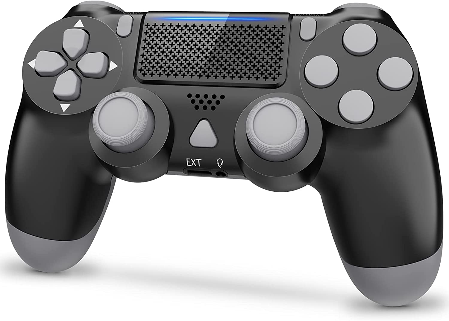 Y Team Wireless Controller for PS4, PStation 4 Gamepad Remote Controller with Double Vibration/Audio Function/Touch Pad, Compatible with PS4/Slim/Pro(Black)