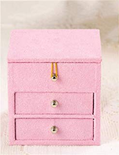 IPurpleBTS Storage Box Storage Holder Storage Boxes Retro Small Square Double Pumping Multi Layer with A Mirror Jewelry Box (Color : B) Home Storage and Organization (Color : D)