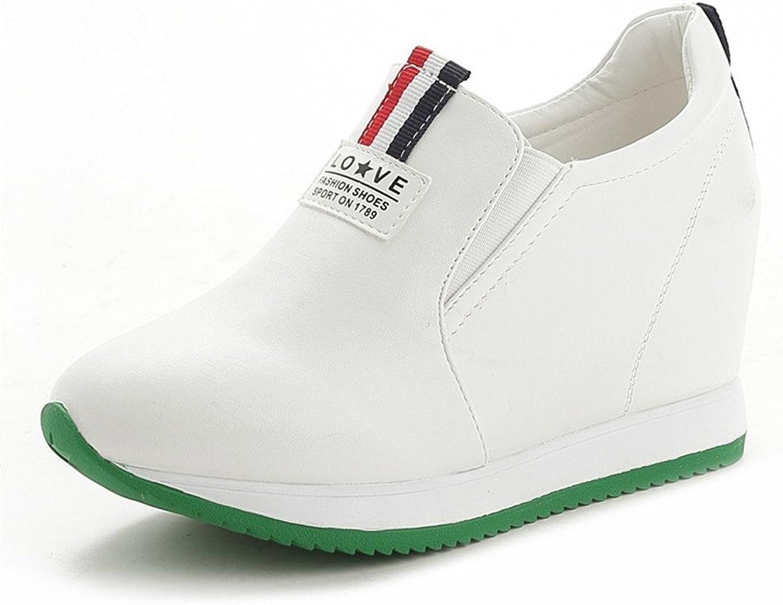 Btrada Women Hidden Heel Wedge Sneakers Platform Casual Fashion Loafers Fitness Walking shoes
