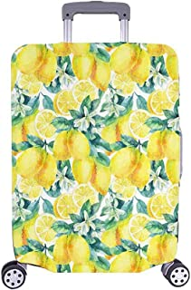 Funny Yellow Lemon Fruit Travel Luggage Cover Suitcase Baggage Protector Fits 18