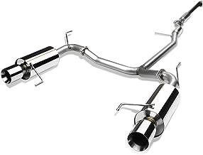 DNA Motoring CBE-HA98V6-NRT CBEHA98V6NRT Stainless Steel Catback Exhaust System