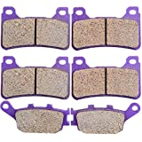 ECCPP FA174 Brake Pads Front and Rear Carbon...