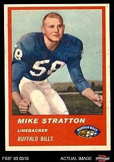 1963 Fleer # 32 Mike Stratton Buffalo Bills (Football Card) Dean's Cards 6 - EX/MT Bills
