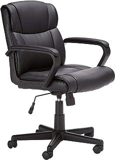 كرسي مكتب مبطن بارتفاع منتصف الظهر من ماهماي، لون اسود، HL-002566