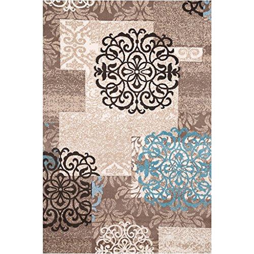 WYGG-Textiles para el hogar Sala de Estar Moderna Simple Mesa de Centro Alfombra Dormitorio Ropa de Cama Sala de Manta Retangular Alfombra Rectangular /& (Color : 02, Tamaño : 120cm*170cm)