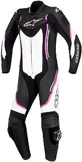 Alpinestars Motegi V2de la mujer–calle Moto trajes–negro/blanco/rojo