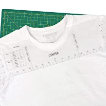 T-Shirt Ruler Guide, Tshirt Ruler Guide for Vinyl Alignment,Transparent Graphics Tshirt Alignment Ruler Tool with Clothing...