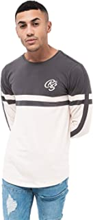 3c4ed8206ab7 Crosshatch Mens Long Sleeved Top Print Embroidery Crew Neck Fashion  Designer New
