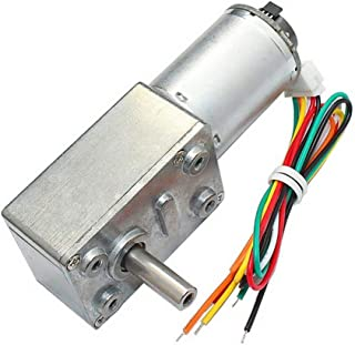 DC 12V Metal Geared Motor Encoder 30RPM for Robotics,RC Car Model,Custom Servo and DIY Engine Toy