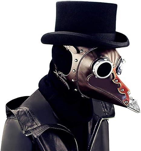 LUCKME Retro Plague Doctor Mask, Steampunk Long Nose Bird Maske Gothic Rock Prop für Masquerade Cosplay Halloween Kostüm-Party