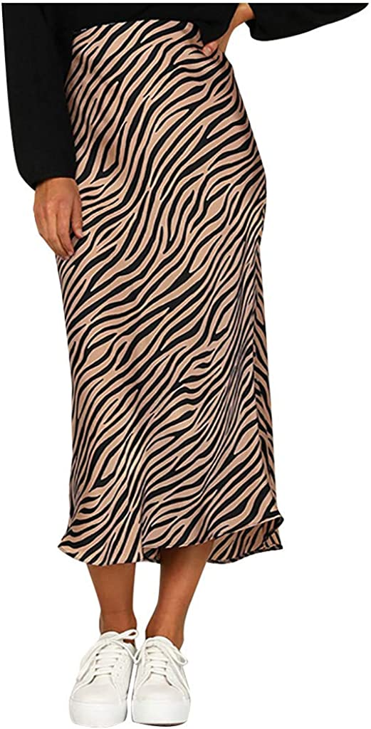 Skirts for Women, Leopard Print Summer Casual Party Split Tight Hip Skirt