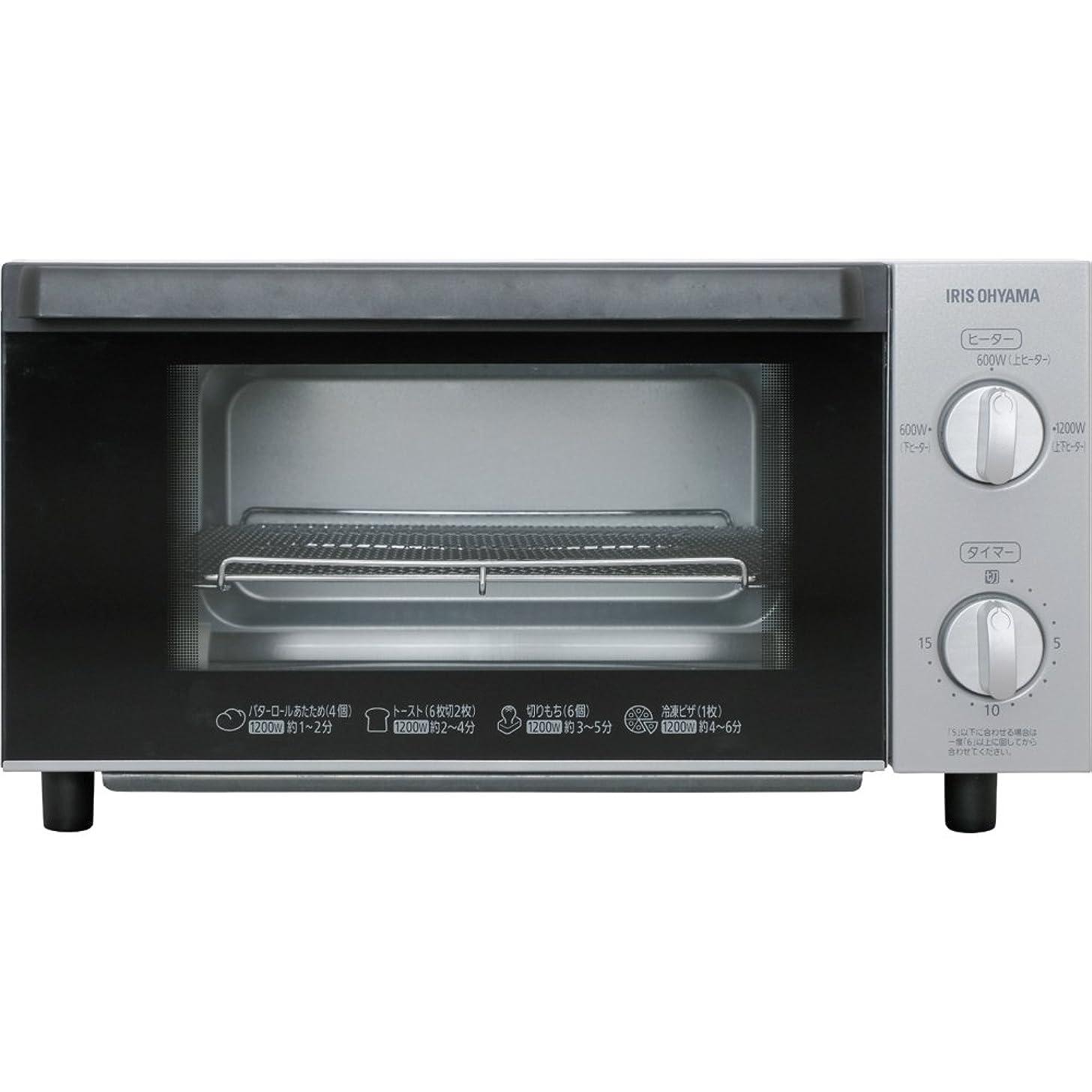 西部文明化ゆるいアイリスオーヤマ オーブントースター 4枚 トースト 1200W 600W 温度調節 タイマー機能付 ホワイト EOT-1203C