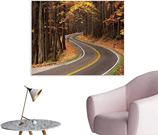 J Chief Sky Fall Wallpaper Sticker Curvy Roadway Through The Forest Great Smokey Mountains Change of Seasons Traveling Decor Mural for Home W24 xL16