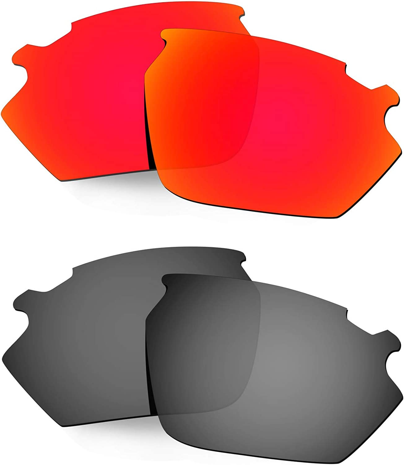 HKUCO Reinforce Replacement Lenses for Rudy Stratofly Red Black Sunglasses