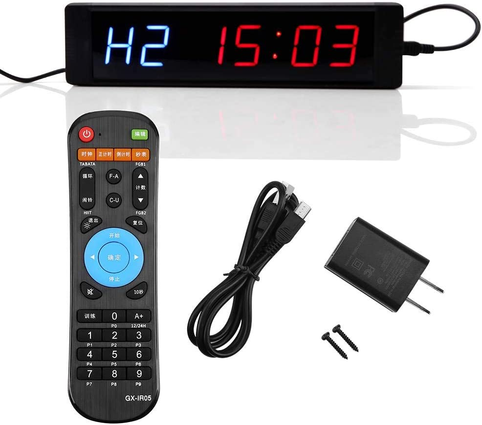 Led Display Fixed price for sale Interval Timer Programmable Clock R Timers Sacramento Mall with Wall