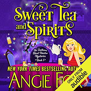 Sweet Tea and Spirits                   Written by:                                                                                                                                 Angie Fox                               Narrated by:                                                                                                                                 Tavia Gilbert                      Length: 7 hrs and 17 mins     1 rating     Overall 5.0