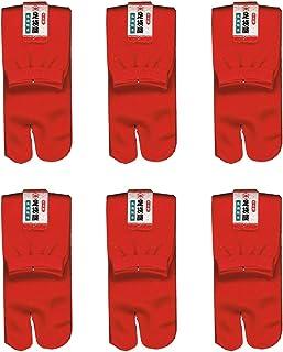 足袋屋 レディース 抗菌防臭 クルー丈 足袋 ソックス 6足セット (婦人 日本製 靴下) 22-25cm