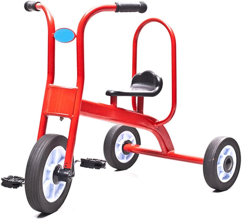 QXMEI Dreirad-Fahrrad-Jungen-Mdchen-Spielzeug-Spaziergnger-einzelnes Fahrrad 2 Bis 6 Einjahreskind,rot