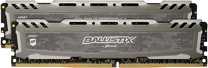 Crucial Ballistix Sport LT 2400 MHz DDR4 DRAM Desktop Gaming Memory Kit 8GB (4GBx2) CL16 BLS2K4G4D240FSB (Gray)