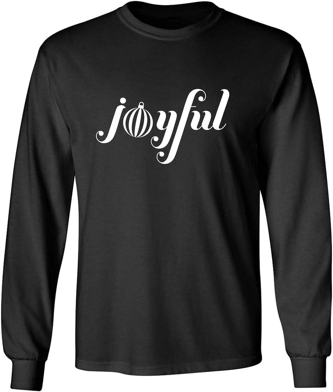 Joyful Adult Long Sleeve T-Shirt in Black - XXXXX-Large