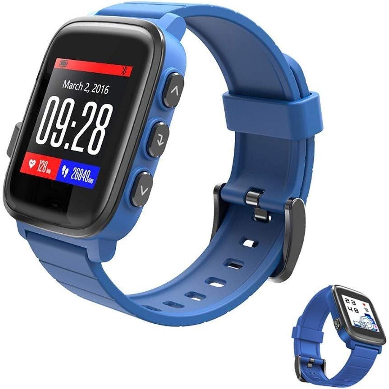 Shouhuan Fitness Smart Watch Monitore, Tiefe wasserdichte Uhr GPS Track Motion Tracking 40 Tage Batterielebensdauer Fitness Tracker Watch, for Den Alltag (Farbe   Blau)