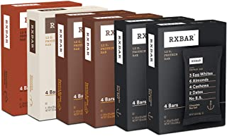 RXBAR, Chocolate Flavors Variety Pack, Protein Bar, 1.83 Ounce (Pack of 24) Breakfast Bar, High Protein Snack