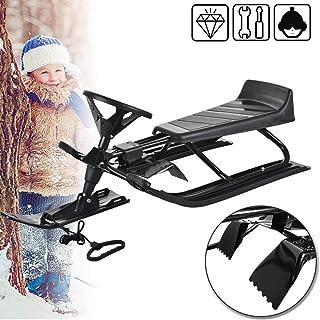 Froadp Bobs Trineo de Metal con Freno de pie Volante y Cuerda de tracción Trineo para niños Tobogán Disponible en una Variedad de Estilos