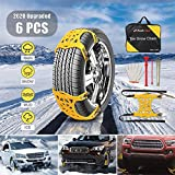 AUTMOR Snow Chains, 6pcs Adjustable Anti Skid Tire Chains for Cars/SUV/Pickup Trucks, Snow Tire Chains, Universal Snow Chains for Trucks/Car/SUV(Tire Width 165-275mm/6.5'-10.8'')
