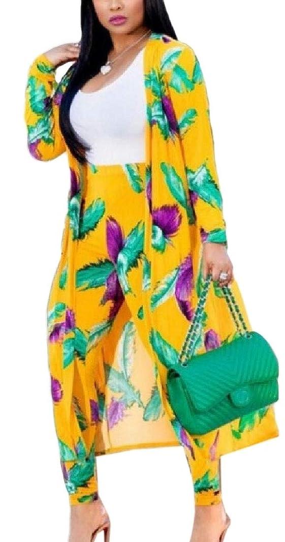 コンクリート自治的機関車女性花柄ロングカーディガンカバーアップロングパンツセット衣装2ピーススーツ