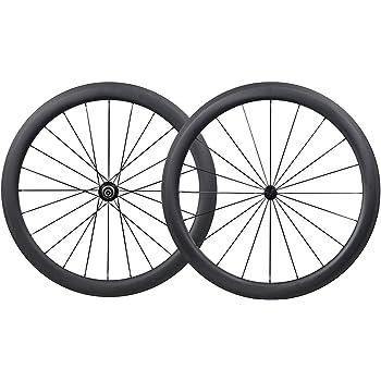 700C 50mm Carbono Carretera Bicicleta Ruedas Clincher Tubeless ...