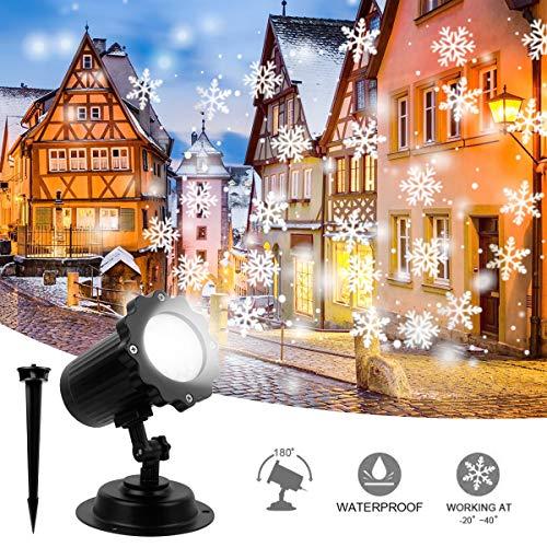 Proiettore a luce di fiocco di neve, Proiettore di luci di Natale a LED Proiettore decorativo per interni ed esterni a soffitto impermeabile Luci natalizie per Natale Decorazioni di nozze