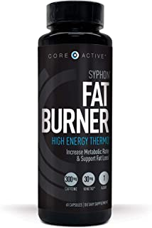 Core Active Thermogenic Fat Burner - Keto Friendly Weight Loss Supplement Pills + Kinetiq for Energy, Focus, Appetite Control - Increase Metabolism & Muscle Toning - 60 Day Supply - 60 Capsules