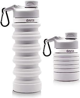 comprar comparacion ONTA Botella De Agua Plegable-Botella De Agua Plegable De Silicona Libre De BPA para Viajes,Aprobada por La FDA,Botella De...