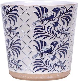 Blue Sky Ceramic Turlingtong 6.5' Flower Pot, Multi Color