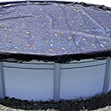 Swimline CO928 28-Foot Round Above Ground Swimming Pool Leaf Net Top Cover for Winter Cover, Black