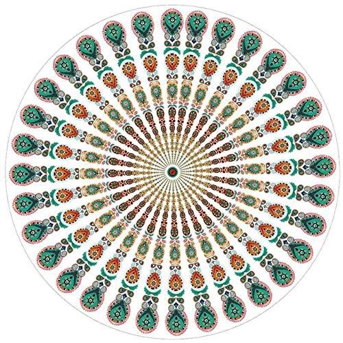 DYB Manta al Aire Libre Toalla de Yoga - Microfibra Redondo Playa Toalla Mandala Tapón Toalla Playa Bohemia Yoga Mat Natación Baño Toalla Casifón Tapar tapicería Colgando Manta de Playa