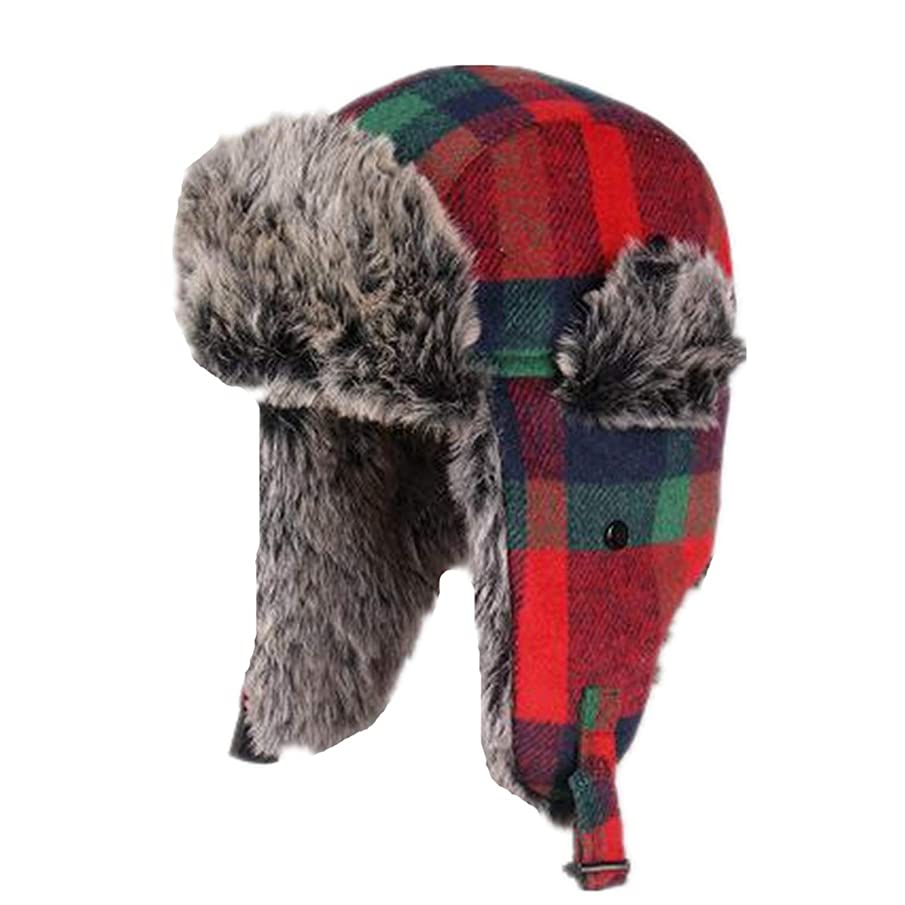 Unisex Bomber Trooper Trapper Hat,Winter Fur Ear Flaps Sports Snow Outdoor Cap Bomber Hats