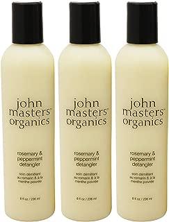 John Masters Organics Rosemary and Peppermint Detangler Conditioner, 8 oz. (Pack of 3)