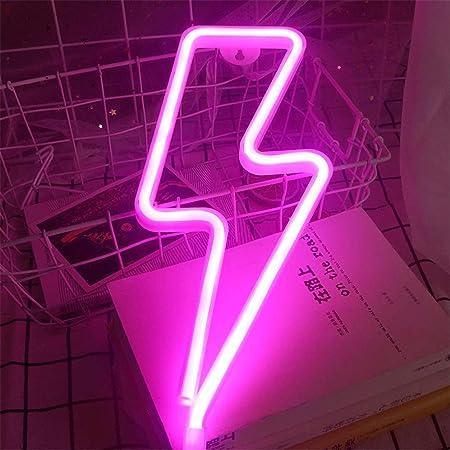 Nordstylee Neon-Lightning-Lichtschilder, LED-Nachtlichter für Kinder, als Geschenk, für Wand, Geburtstagsparty, Weihnachten, Hochzeitsdekoration (warmweiß)