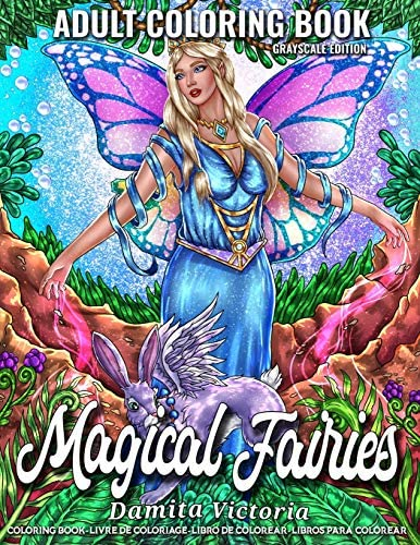 Magical Fairies Adult Coloring Book Featuring Fantasy Coloring Pages with Beautiful Fairies product image