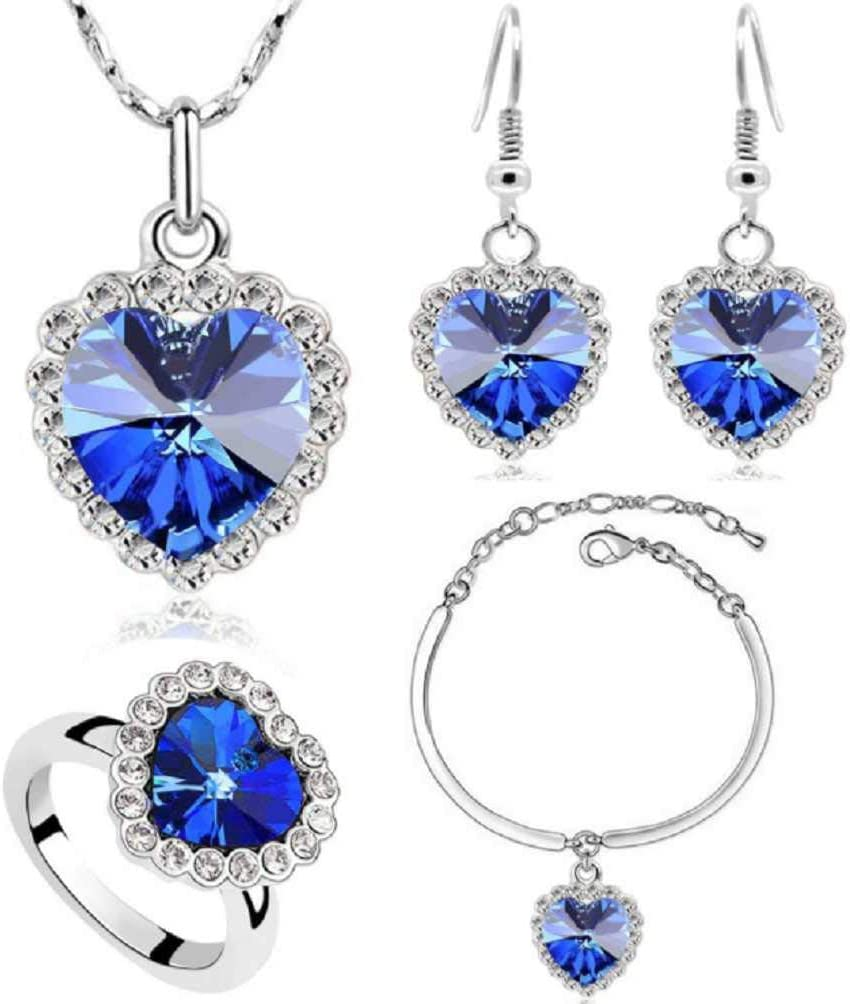 Clearance Offer MERSDW 4PCS Luxury Cash special price Set Jewelry Austrian Popular Crystal