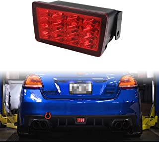 TurningMax Red Lens F1 Style LED Rear Fog Light Kit with Wire Harness and Mounting Bracket Fit for 2011-up Subaru WRX STi, Impreza or XV Crosstrek