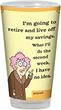 Tree-Free Greetings PG02899 Aunty Acid Artful Alehouse Pint Glass, 16-Ounce, Savings