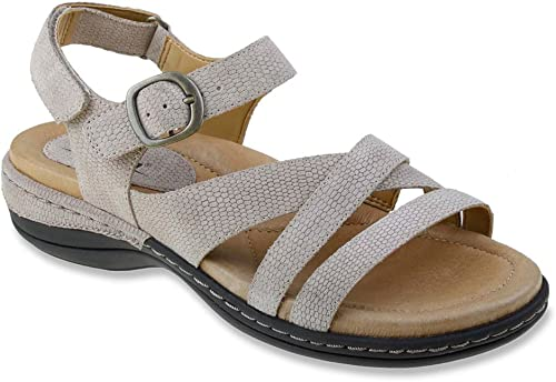 Earth Aster Femmes Large Cuir Sandale