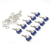 HiLetgo 10pcs 6A/125V 3A/250V ON/Off/ON 3 Terminals 3 Position SPDT Toggle Switch Single Joint MTS-103