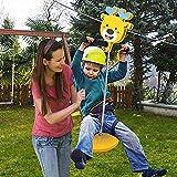 Vogvigo Tyrolienne pour Jardin, 30m Tyrolienne pour Enfants et Adultes, Capacité de Charge Maximale 113 kg, avec Frein à Ressort de Sécurité de 2m et Dispositif de Protection d'arbre (30m)