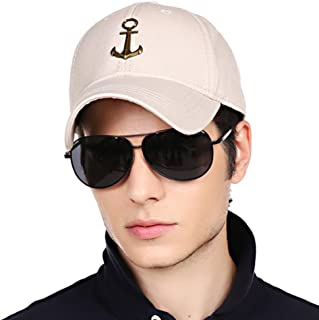 CACUSS Men's Cotton Dad Hat Classic Baseball Cap with Adjustable Buckle Closure,Golf Cap